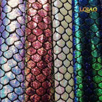 LQIAO New Fish Scale Mermaid Sequin Fabric by the yard,Patchwork Cloth,DIY Sewing Craft Material For Baby&Child Cloth/Bag,Dress