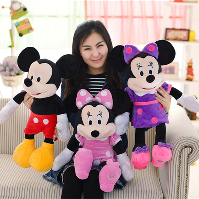 1pc New 50CM High Quality Mickey or Minnie Mouse Plush Toys for Kids Baby Christmas Gift soft Stuffed Cute Cartoon Animal Dolls