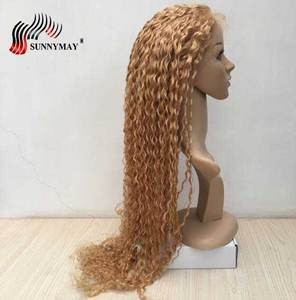 FREEDOM Synthetic Lace Front Wigs 40 Inch Supper Long Deep Natural Wave Ombre Blond 613 Color Hair Wigs For Black Women Fashion(China)