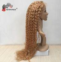 Sunnymay 27 Color Full Lace Human Hair Wigs Blonde Curly Brazilian Virgin Hair Lace Wigs Pre Plucked Baby Hair