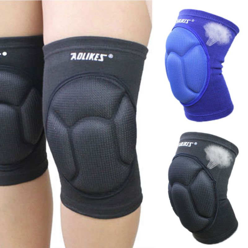 1 pair AOLIKES Basketball Skating Shockproof Sponge Pad Knee Support Brace