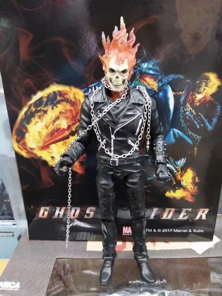 23cm marvel ghost rider johnny blaze figura de acao pvc brinquedos colecao boneca anime modelo dos