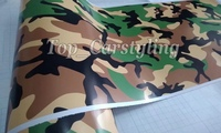 Protwraps black green brown Camouflage Vinyl Motorcycle Car Vehicle Scooter DIY Camo Vinyl Wrap With Bubble Free