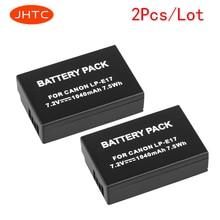 JHTC 2Pcs/lot 1040mAh LP-E17 LP E17 LPE17 LP-E17 LPE17 Camera  For Canon EOS M3 M5 750D 760D T6i T6s 8000D Kiss X8i Battery