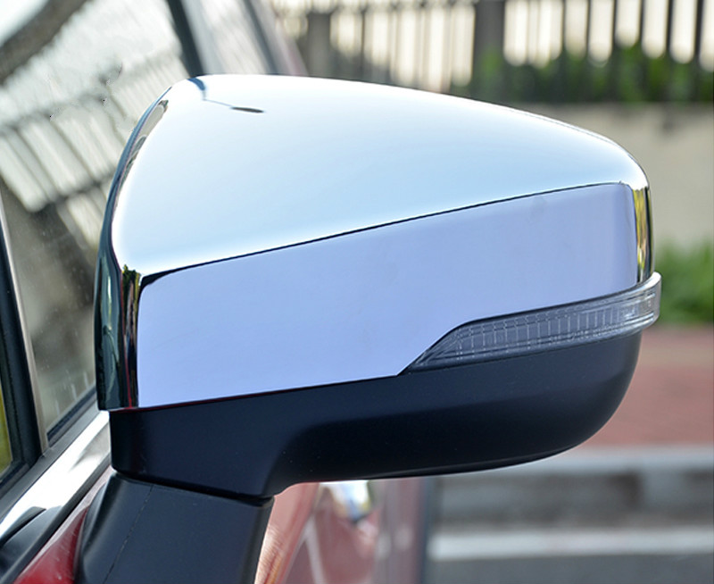 KOUVI ABS chrome car accessories rearview side mirror cover cap For 2018 2019 Subaru Forester SK