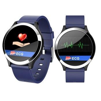 Pulsera inteligente B65 ECG PPG HRV análisis de salud reloj de pulsera podómetro rastreador de distancia caloria reloj despertador Monitor de sueño