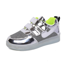 Usb Charging Lumious Sneakers Glowing Kids Shoes With Led Boy$Girl Children Light up Casual Cheap Led shoes