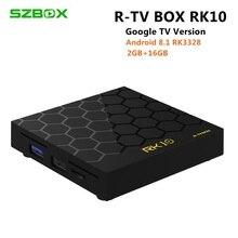 CAIXA de TV Android 8.1 Quad core 2 RK3328 RK10 gb RAM gb ROM USB3.0 16 Voz Remoto WI-FI 3D 4 k HDR10 Media Player TV Set Top Box