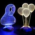 DIA 3d Optical Illusion Controle de Toque Lâmpada de Mesa-Coração Amoroso, chegada nova loving heart design candeeiro de mesa de toque 3d decoração da sua casa