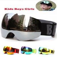 Professional Brand Boys Girls Snowboard Goggles Kids Ski Goggles Eyewear Double UV400 Anti Fog Skiing Mask