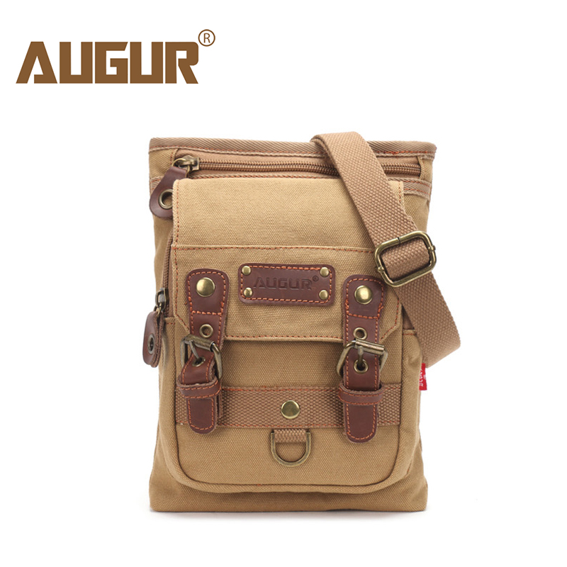 AUGUR New Male Small Canvas Crossbody Bag Multifunction Work Tool Bag Men Shoulder Waist Belt Bag Messenger Bags augur fashion men s shoulder bag canvas leather belt vintage military male small messenger bag casual travel crossbody bags