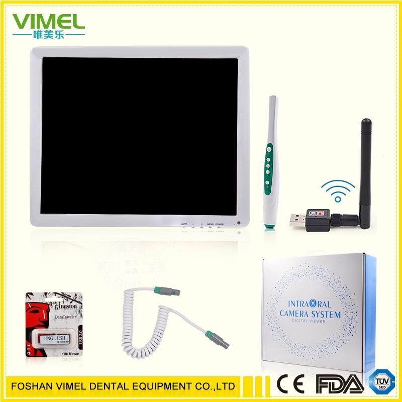 Dental Equipment 17inch HD Multimedia Monitor Oral Camera Endoscope Borescope for dentista Wifi Wireless