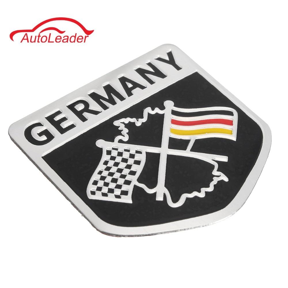 Aluminium car emblem germany german flag emblem grille badge decal sticker racing motorsports for bmw