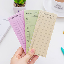 daily weekly and monthly list memo-notebook, pure color learning office schedule can tear N times post memo pad stationery