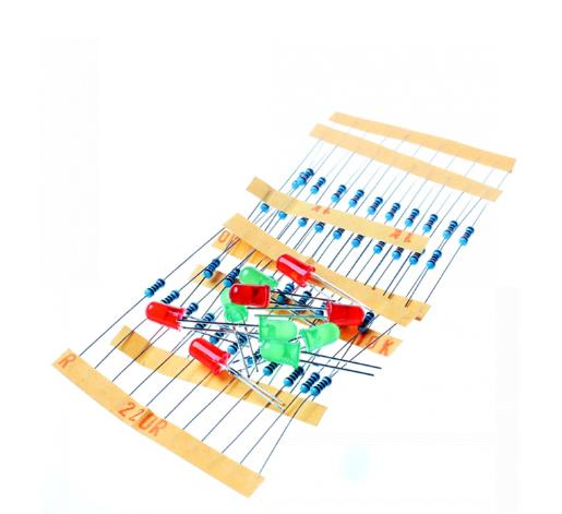50pcs 1k 10k 100k 220 Ohm 1/4w Metal Film Resistor And Led Kit For Raspberry Pi Integrated Circuits