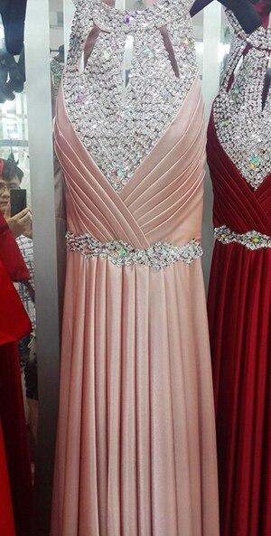 Вечернее платье,, длина до пола, сатиновые Сексуальные вечерние платья для выпускного вечера, элегантные длинные вечерние платья - Цвет: pink