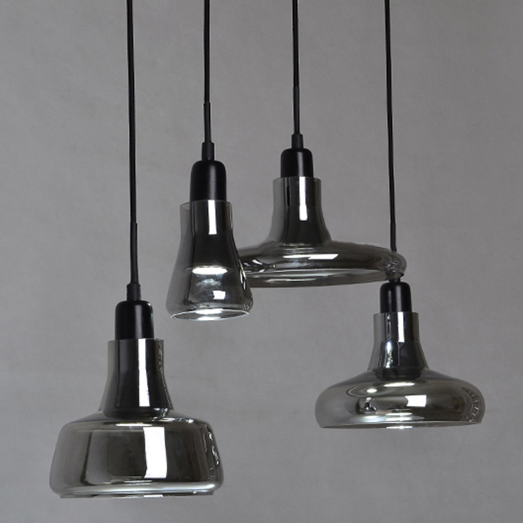 Nordic LED pendant lights glass lampshade personality living room Restaurant Bar Cafe decorations lamps pendant lamps ZA decorative led 1 3 heads pendant lamps retro personality bar cafe restaurant home lighting bamboo tube led pendant lights za