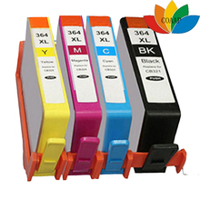 Compatible set 4pcs hp 364XL ink cartridge for hp Photosmart 5510 5520 6510 6520 7510 7520 e-All-in-One inkjet Printer