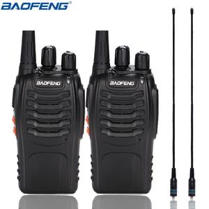 Image 1 - 2 adet Baofeng BF 888S Walkie Talkie UHF BF888S el radyosu 888S Comunicador verici alıcı verici + 2 NA 771 anten