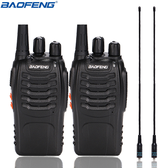 2 adet Baofeng BF 888S Walkie Talkie UHF BF888S el radyosu 888S Comunicador verici alıcı verici + 2 NA 771 anten