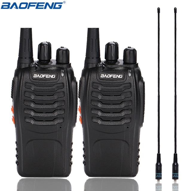 2Pcs Baofeng BF 888S Walkie Talkie UHF BF888S Handheld Radio 888S Comunicador Transmitter Transceiver+ 2 NA 771 Antenna