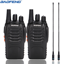 2Pcs Baofeng BF 888S Walkie Talkie UHF BF888S Radio del Palmare 888S Comunicador Transceiver Trasmettitore + 2 NA 771 Antenna