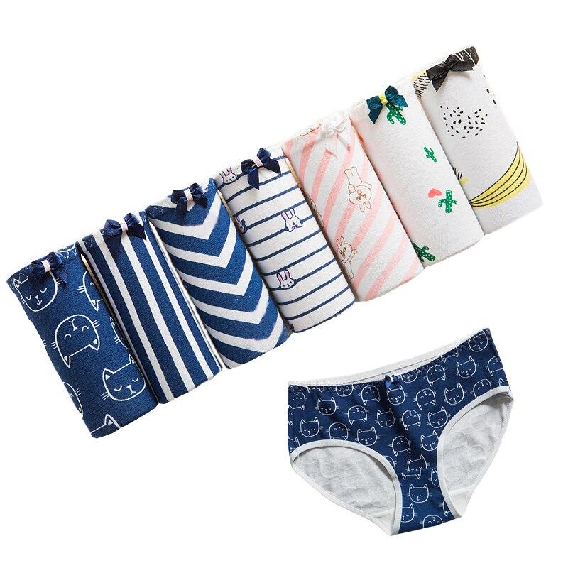 7Pcs/lot   Panties   Women's Underwear Cotton Print Briefs Sexy   Panties   Low Waist Cueca Calcinhas Shorts Underpants Girls Cute   Panty