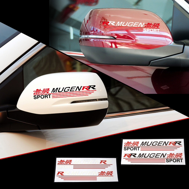 Aliauto 2 X Reflective Car Rearview Mirror Sticker And Decal Mugen R R  Sport For Honda Civic