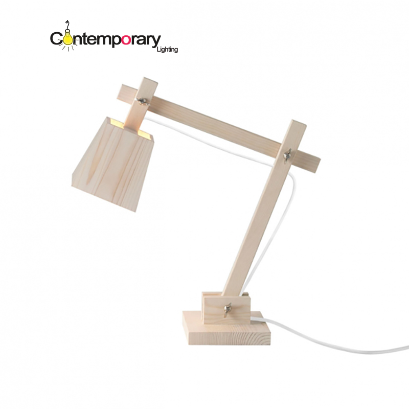 scandinavian home office library Desk Lamp Bedroom Lamp Vintage Solid Wood Table Lamp Study Light Bedside Lamp For Birthday Gift north european style retro minimalist modern industrial wood desk lamp bedroom study desk lamp bedside lamp