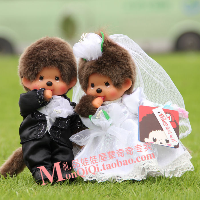 Fashion Cute plush doll 20cm One pair of wedding dolls Lovers  toy for Holiday and birthday gift  Home Decoration kids doll free shipping l wedding gift lovers doll decoration extra large doll juguetes de los cabritos