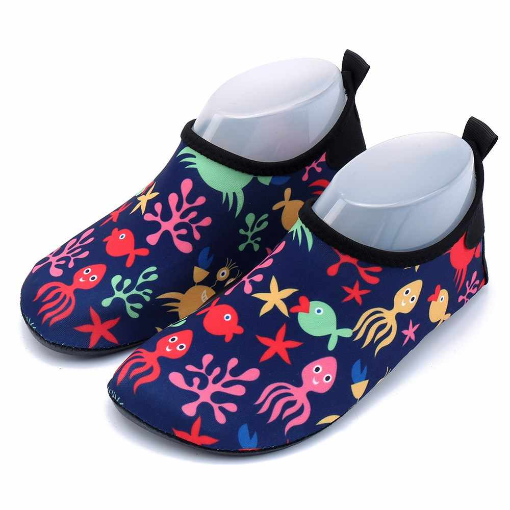 e059e02ab ... Дети Плавание обувь против скольжения кожи обувь пляжная обувь для  малышей Сандалии Детские босоножки Носки для ...
