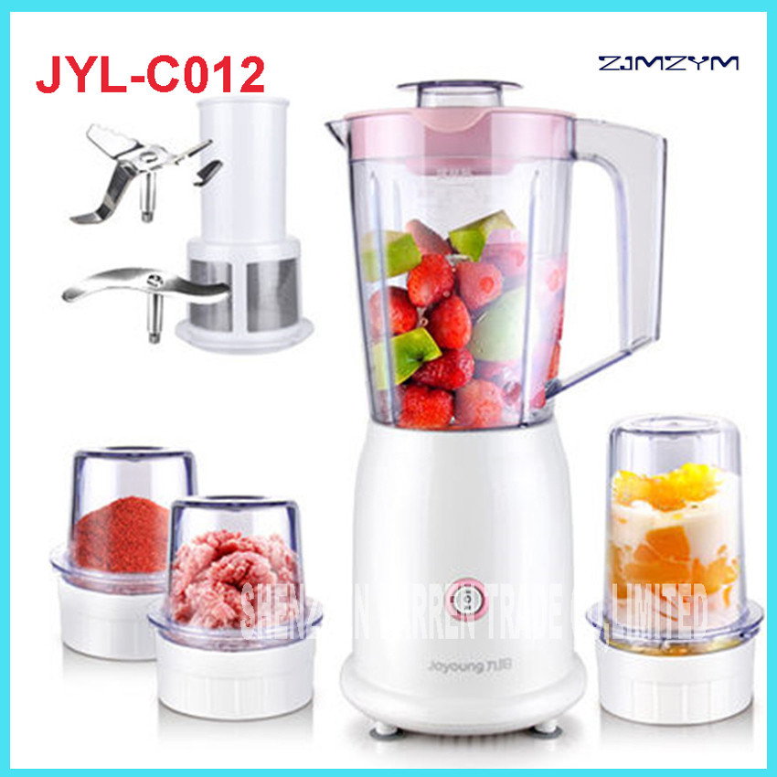 JYL-C012 Household Juicer multifunctional machine Juice Bottle Small Fruit Squeezer Machine Ground meat, dry grinding glantop 2l smoothie blender fruit juice mixer juicer high performance pro commercial glthsg2029