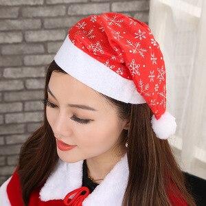 Image 3 - Adornos de Navidad sombreros de Papá Noel niños mujeres hombres niños niñas gorra para fiesta de Navidad accesorios S5010