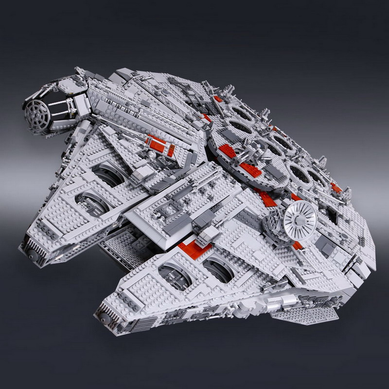 05033 LEPIN STAR WARS Ultimate Collector's Big Millennium Falcon Model Building Blocks Figure Toys For Children Compatible Legoe банный комплект softline 05033