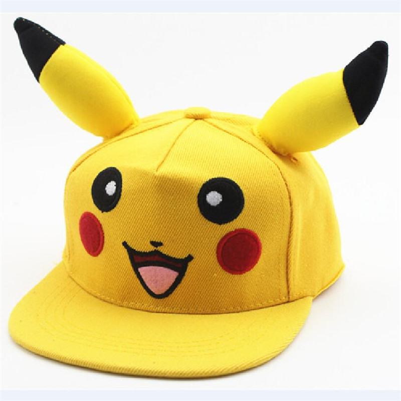 Wholesale Children&Adult PKQ   Baseball     Caps   Kids Cute Cartoon Snapback Sun Hat Mesh Yellow   Cap   Go Safety Hat Adjustable