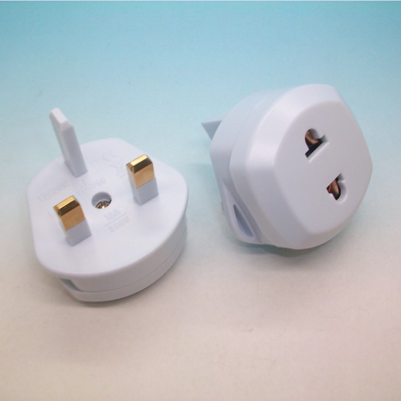 2PCS 2pin to <font><b>3pin</b></font> <font><b>UK</b></font> <font><b>Plug</b></font> Converter Adapte US/EU to <font><b>UK</b></font> AC Electrical <font><b>Plug</b></font> Adapter Travel Power <font><b>Plug</b></font> image