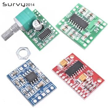 цена на PAM8403 DC 5V 2 Channel USB Digital Audio Amplifier Board Module 2 * 3W Volume Control with Potentionmeter
