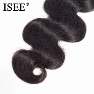 Image 4 - ISEE HAIR 3 Bundles Brazilian Body Wave Hair Extension Remy Human Hair Nature Color Free Shipping Brazilian Hair Weave Bundles