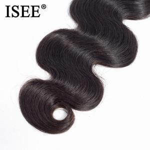 Image 4 - ISEE wiązki włosów 3 brazylijski włosy typu body wave Remy przedłużanie ludzkich włosów natura kolor darmowa wysyłka brazylijski włosy wyplata wiązki