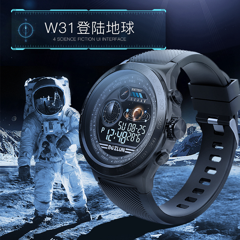SKMEI W31 UI Interface Men Sport Watch Fit Spanish Women Dress Wristwatch Heart Rate Sleep Monitor Healthy Reminder Smartwatches - 4