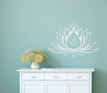 Lotus Flower Wall Decal Buddha Om Sign Meditation Stickers For Yoga Studio Beautiful Interior Home Decor Vinyl DecalsSYY713