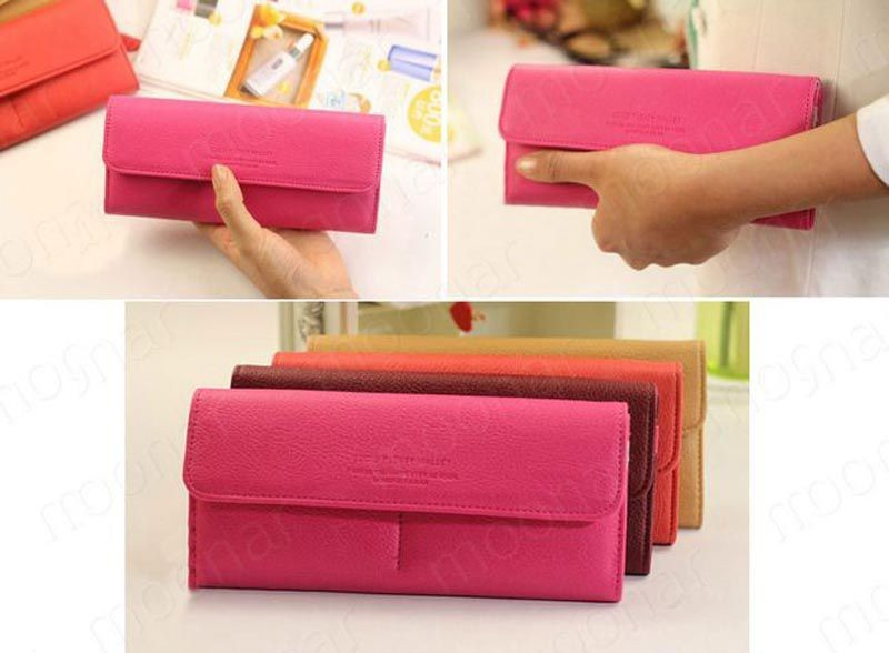 B489 women leather wallet purse