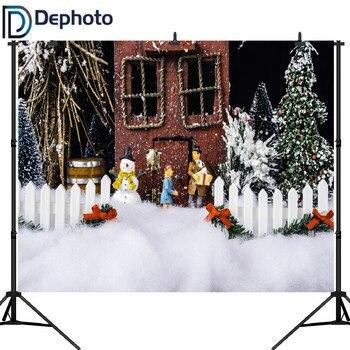 Dephoto Vinyl Christmas Photography Background Children Camera Fotografica Christmas Tree Photo Background for Photo Studio