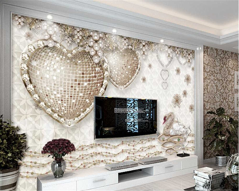 TV background wall 3d wallpaper ...