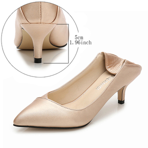 Image 2 - Maiernisi ポインテッドトゥの女性は革オフィス & キャリア女性の靴薄型ハイヒールビッグサイズ 36 45 毎日靴女性