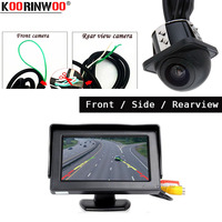 Koorinwoo Multi 2 Switch Wire Camera Auto Front / Side/ Rear view camera system Parking Car Monitor Digital Screen Car detector