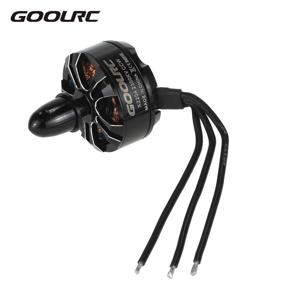 GoolRC X2204 2300KV CW CCW Brushless Motor for QAV250 RC Quadcopter Drone Parts Electronic Accessories RC Motor original emax rs1104 5250kv brushless motor t2345 tri blades propellers cw ccw props for 130 rc brushless racer drone q20400