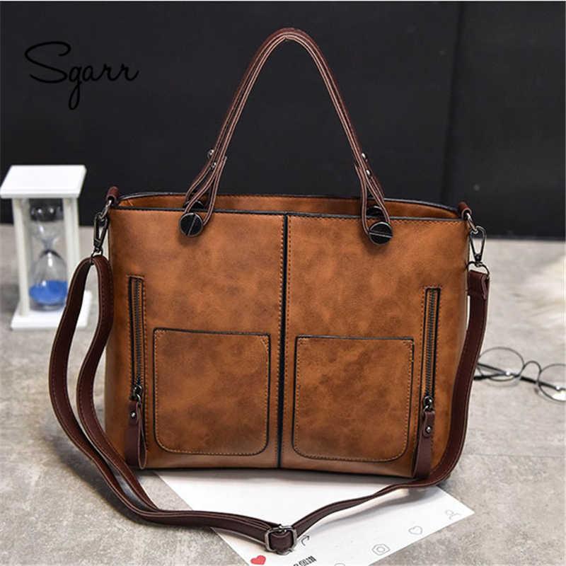 SGARR Fashion Women Shoulder Bag PU Leather Handbags Luxury Designer Ladies  Crossbody Bag Famous Brands Large e1c74d2dbbdd3
