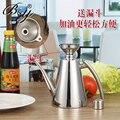 Lubrificador de aço inoxidável 304, Japão de vazamento de soja molho, Óleo de oliva barril tanque de aço inoxidável garrafa de óleo de oliva azeite Dispenser