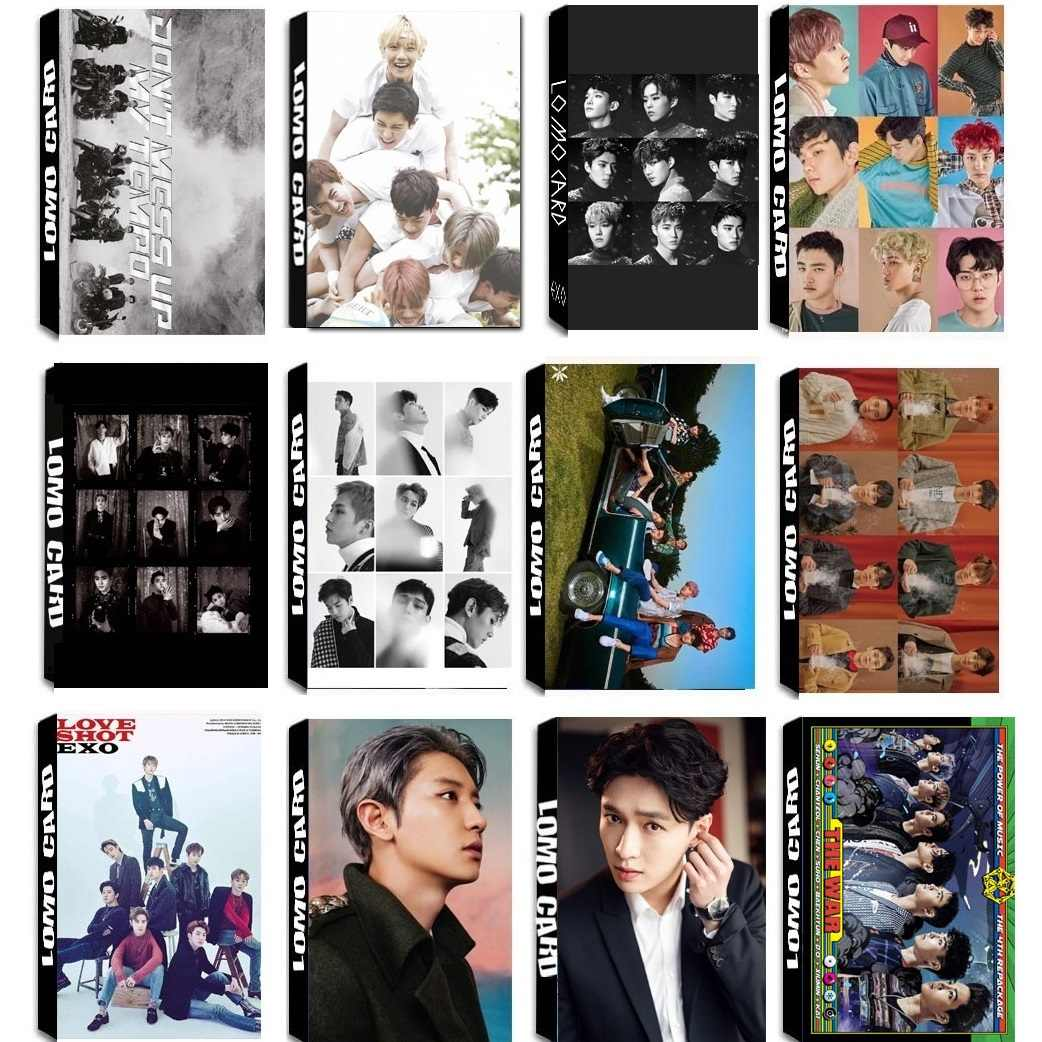 30Pcs/set KPOP EXO Team 11 Album Universe The War Collection HD Photo Card PVC Cards Self Made LOMO Card Photocard